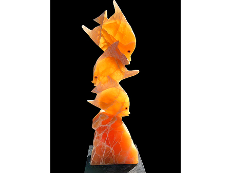 Triple Tail Fish - Calcite 3.5 feet high